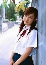 Cute gravure princess is adorable in her school girl uniform