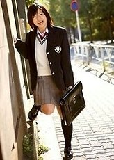 cute schoolgirls from Japan showing amazing skinny bodies dressed in sexy school uniforms